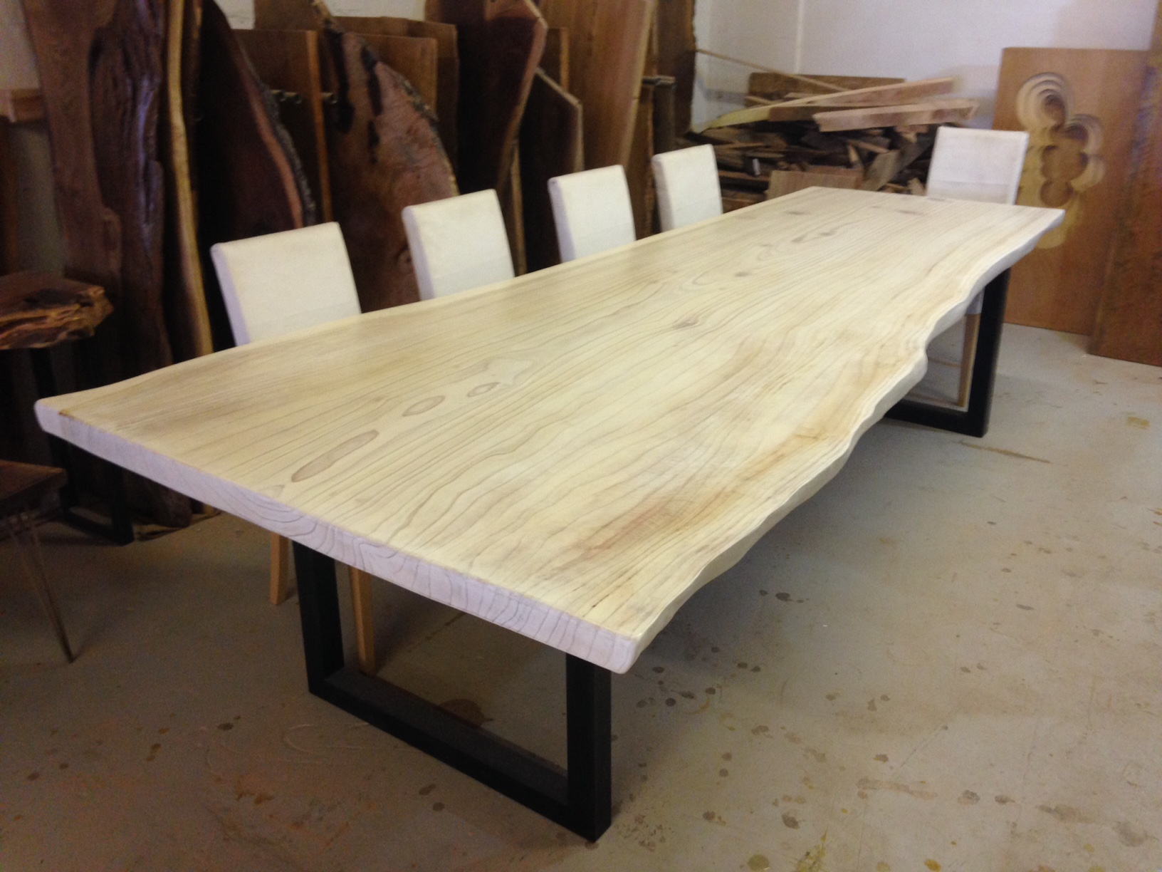 Live Edge Dining Table White Dining Table Redwood