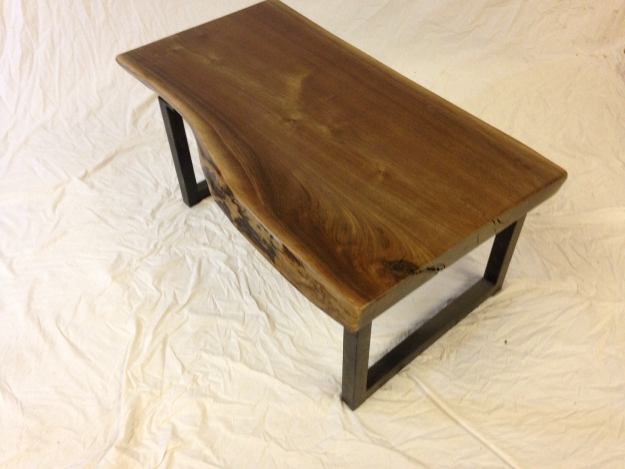 Live Edge Black Walnut Slab Coffee Table Item 41